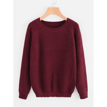 Pullover Texture Knit Sweater
