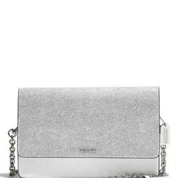 Coach Colorblock Saffiano Mixed Crosstown Boxy Shoulder Bag