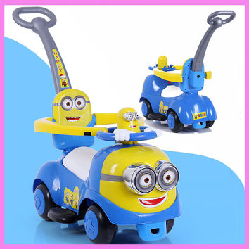 Baby Toddler Child Activity Walker Stroller with Seat Wheelchair Walking Aid Assistant Stroller Car Toys with Music