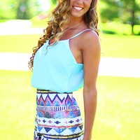 Tres Chic Tribal Romper
