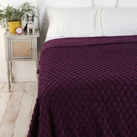 Diamond Chain Chenille Coverlet