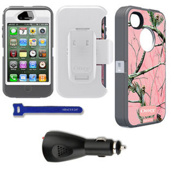 OtterBox Defender iPhone Protector Case / Car Charger / Velcro Tie | Overstock.com