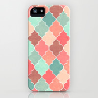 Morocco Coral Mint iPhone & iPod Case by Jacqueline Maldonado