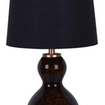 L430524 Arma Glass Table Lamp (2/Cn) Black/Copper Finish Free Shipping!