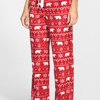 Women's PJ Salvage 'Polar' Polka Dot Fleece