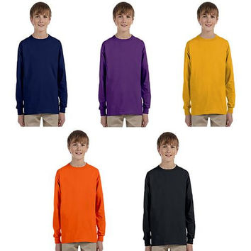 Irregular Youth Long Sleeves Tee - Assorted - Larg