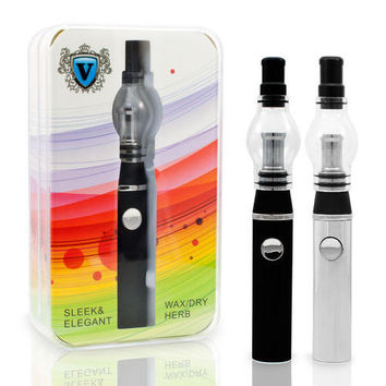 Ceramic Portable Vaporizer Pen V5 510- Glass Dome Dab Kit