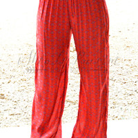 NATURAL LIFE RED AND PURPLE LOUNGE PANT