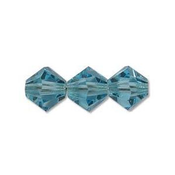 MC30204AQUA - 4mm Preciosa Bicone Crystal Beads,  Aqua | Pkg 144