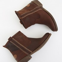 Altar'd State Mixed Leather Booties | Altar'd State