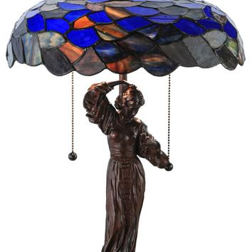 "Meyda 21""H Maxfield Parrish Griselda Table Lamp"