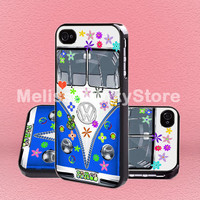 VW Bus Peace Love blue - Print on Hard Cover - iPhone 5 Case - iPhone 4/4s Case - Samsung Galaxy S3 case - Samsung Galaxy S4 case