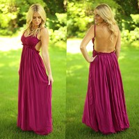 Floating Elegance Maxi in Burgundy