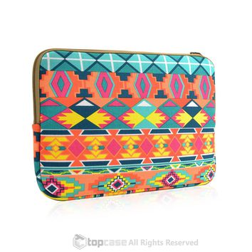 "Bohemian Style Canvas Fabric Laptop Sleeve Bag Case Cover for All 11"" 11-inch Laptop Notebook / Macbook Air / Ultrabook / Chromebook"