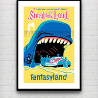 Vintage Fantasyland Gateway to Enchantment Storybook Land -- Disneyland Attraction Poster Reprint -- Not Framed 18x24 - Buy 2 Get 1 Free!