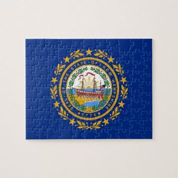 Puzzle with Flag of New Hampshire State