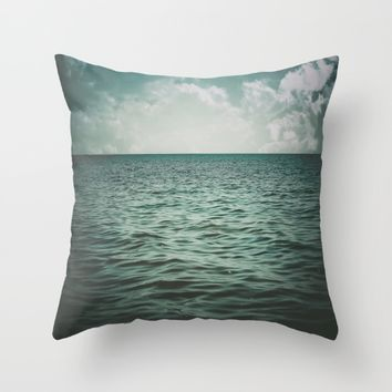 Into The Sea Of Lost Souls  Throw Pillow by Faded  Photos