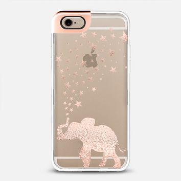 ROSEGOLD HAPPY ELEPHANT by Monika Strigel FAUX GLITTER iPhone 6 case by Monika Strigel | Casetify