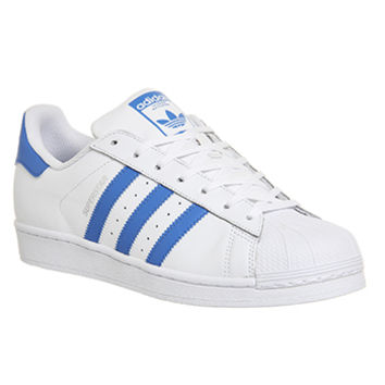 Adidas Superstar 1 White Blue - Unisex Sports