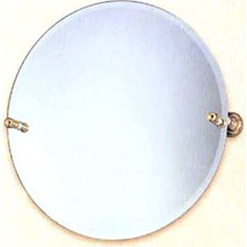 Allied Brass DT-90-PB Dottingham Polished Brass 22 Inch Round Tilt Beveled Mirror