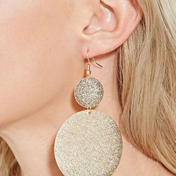 Textured Circular Drop Earrings