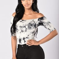Off I Go Bodysuit - Black/White