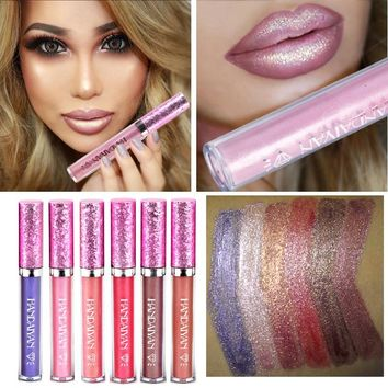 2018 New Liquid Lipsticks Lip Gloss Tint Waterproof Pigment Glitter Blue Nude Long Lasting Matte Metallic Lipgloss Liquid Makeup