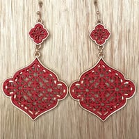 In A Bottle Earrings - Red
