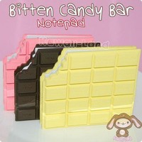 Bitten Candy Bar Notepad - Kawaii Land