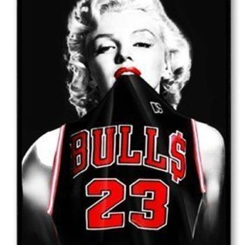 quality design 24d56 770df Marilyn Monroe Chicago Bulls Michael Jordan Jersey Protective Hard Plastic  Case for Iphone 5c + Free Wristband Accessory