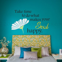 Daisy quote wall decal, motivational wall decal, boho wall decal, dorm room wall decor, teen room wall decor, bohemian wall decal, wall art