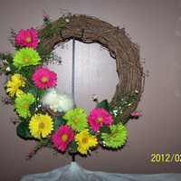 EASTER GRAPEVINE WREATH Florals Holiday Decorations Wall Door Decor