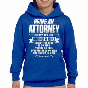 being an attorney Youth Hoodie