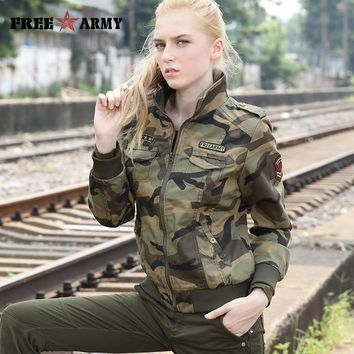 Trendy Winter Jacket Army Brand Autumn s Women New Denim  Female Camouflage Fall s For Women Coat er  Camo Plus Size AT_92_12