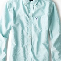 AEO Men's Oxford Button Down Shirt (Seafoam)