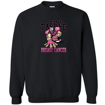 Zexpa Apparel™ Tackle Breast Cancer Unisex Crewneck Breast Cancer Awareness Run Sweatshirt