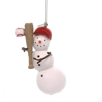 Holiday Ornaments SNOWMAN SPORT ORNAMENT Christmas Game Athletic 110669 Baseball