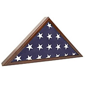 Military Shadow Box 5X9' Flag Display Case, Solid Wood Hand Made By Veterans
