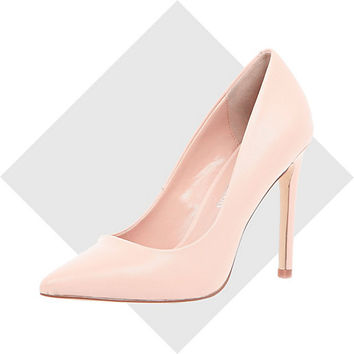 River Island Womens Pink leather pumps