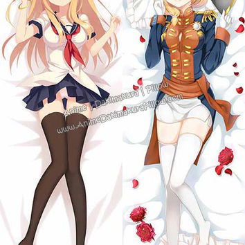 New Rodney and Saratoga - Warship Girls Anime Dakimakura Japanese Hugging Body Pillow Cover H3094 H3096