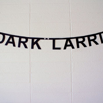 dark larrie - word banner, super glittery!  one direction, harry & louis, larry, lourry