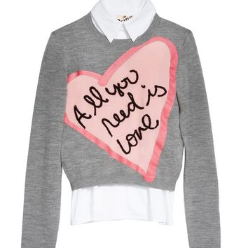 Nikia All You Need Is Love Pullover | Alice + Olivia