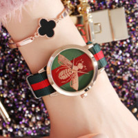 Bees fashion couple table female table cloth with girlfriends cousin watch neutral paragraph waterproof watch