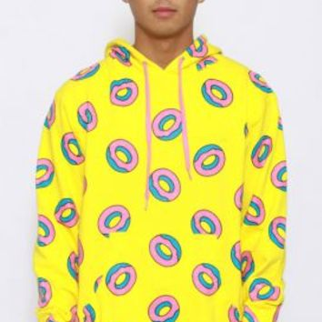Odd Future, All Over Donut Pullover Hoodie - Yellow - Odd Future - MOOSE Limited