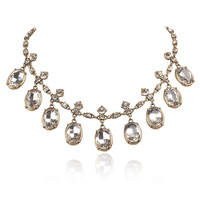Luxury Crystal Pendant Vintage Charms Chain Choker Necklace