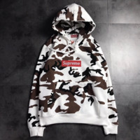 Fashion Supreme Camouflage white Hooded Sweater