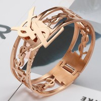 YSL Women Fashion Hollow Out Bracelet Jewelry