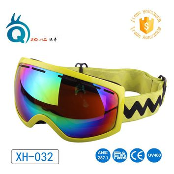 2017 free shipping Ski Goggles for Snowboard Motorcycle UV400 Dustproof Skiing sunglasses Men Women large Anti-fog lens Goggles