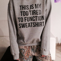 Grey Graphic Print Sweatshirt