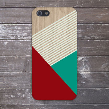 Geometric Burgundy x Mint Stripes Design Case for iPhone 6 6 Plus iPhone 5 5s 5c iPhone 4 4s Samsung Galaxy s5 s4 & s3 and Note 4 3 2
